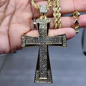 Other - Embossed CZ Cross Iced Out Hip Hop Bling Jewelry